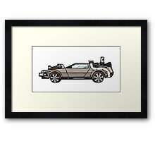 NOW IS THE FUTURE - Delorean 1885 Framed Print