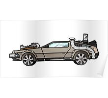 NOW IS THE FUTURE - Delorean 1885 Poster
