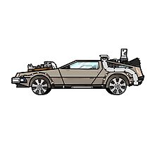 NOW IS THE FUTURE - Delorean 1885 Photographic Print