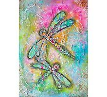 Mixed Media Dragonfly Photographic Print