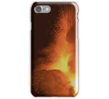 Lava fountains on  Mt. Etna iPhone Case/Skin