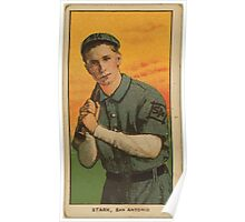 Benjamin K Edwards Collection Dolly Stark San Antonio Team baseball card portrait Poster