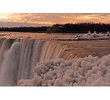 Da Ya Think It's Cold In Niagara? Photographic Print