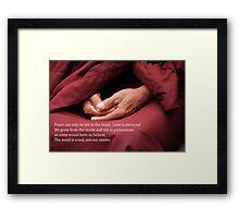 Love is universal Framed Print