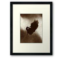 Ballerina Jumping Abstract  Framed Print