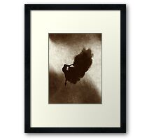 Ballerina Jumping Abstract  Framed Print