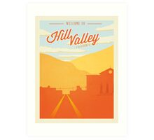 Back to the Future - Welcome To Hill Valley  Art Print