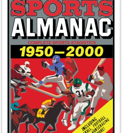 NOW IS THE FUTURE - Sports Almanac 2015 Sticker