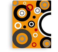Florescent Orange Abstract Vector  Canvas Print