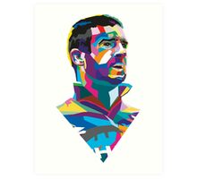 Eric Cantona Colour Portrait Art Print