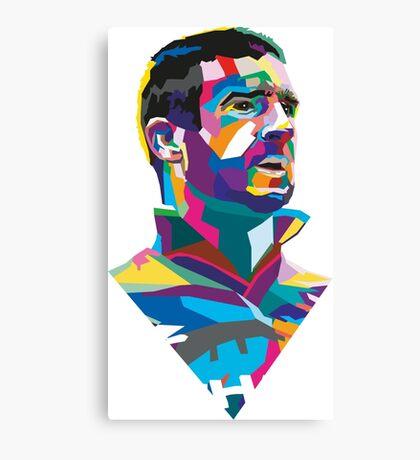 Eric Cantona Colour Portrait Canvas Print