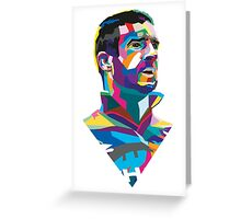 Eric Cantona Colour Portrait Greeting Card