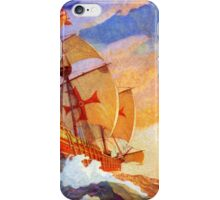 Ships of Christopher Columbus at sea Vintage iPhone Case/Skin