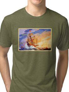 Ships of Christopher Columbus at sea Vintage Tri-blend T-Shirt