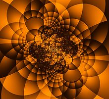 Orange Fractal by Deastrumquodvic