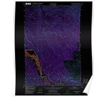 USGS Topo Map Washington State WA Oman Ranch 242957 1949 24000 Inverted Poster