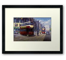 Edinburgh tram. Framed Print