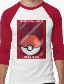 In Case of Tall Grass, Break Glass Men's Baseball ¾ T-Shirt
