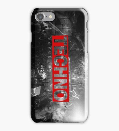 techno iPhone Case/Skin
