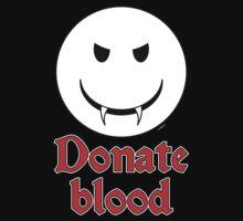 Donate Blood - Vampire Smiley Kids Tee