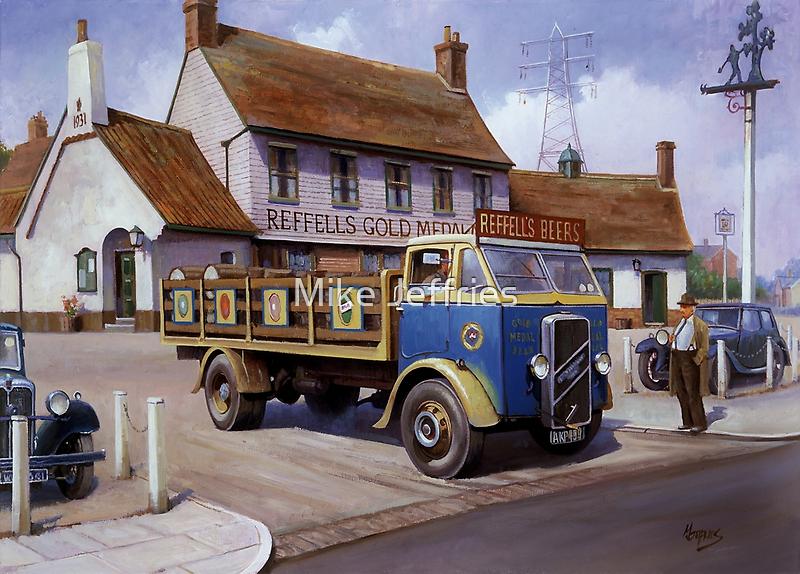 Reffells' ERF at the Woodman. by Mike Jeffries