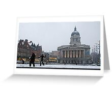 Square Snow Greeting Card