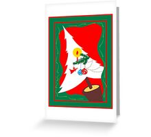 Christmas tree in white with decoration Greeting Card