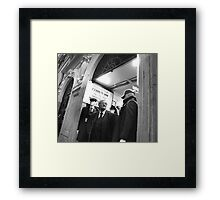 We Three Men Framed Print