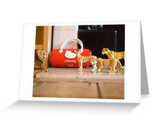 sitting room safari Greeting Card