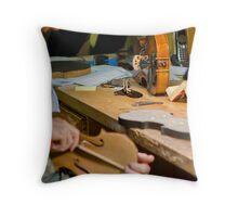 Violin Craftsman Throw Pillow