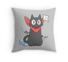 nichijou sakamoto destroying tissue box anime manga shirt Throw Pillow