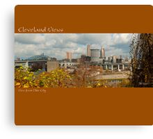 View of Cleveland from Ohio City Canvas Print