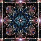 Stained Glass Blue Rose by viennablue