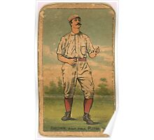 Benjamin K Edwards Collection Tom Brown Pittsburgh Alleghenys baseball card portrait Poster