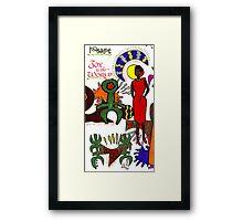 Joy and Peace Christmas Card Framed Print
