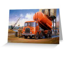 Rugby Cement Thornycroft tanker. Greeting Card