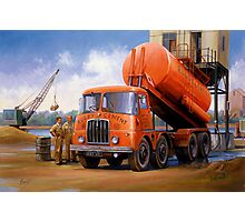 Rugby Cement Thornycroft tanker. Photographic Print