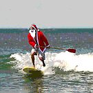 Surfing Santa SUP by andytechie