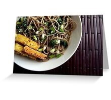 garlic soba noodles Greeting Card