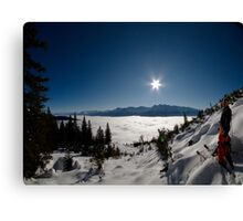 Freeskiing Canvas Print