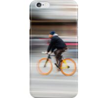 Cyclist in motion iPhone Case/Skin