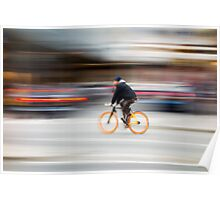 Cyclist in motion Poster