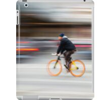 Cyclist in motion iPad Case/Skin