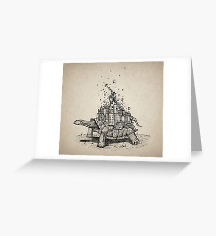 Tortoise Town Greeting Card