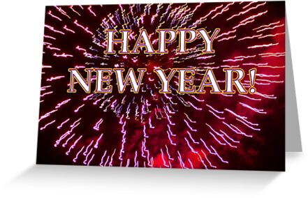 fireworks airburst happy new year by dedmanshootn