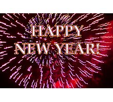 fireworks airburst happy new year Photographic Print