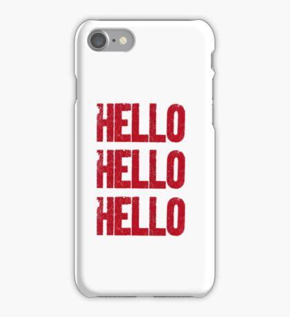 hello hello hello iPhone Case/Skin