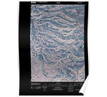 USGS Topo Map Washington State WA Willy Dick Canyon 20110502 TM Inverted Poster