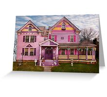 House - Victorian - I love bright colors Greeting Card