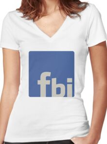 facebook is... Women's Fitted V-Neck T-Shirt